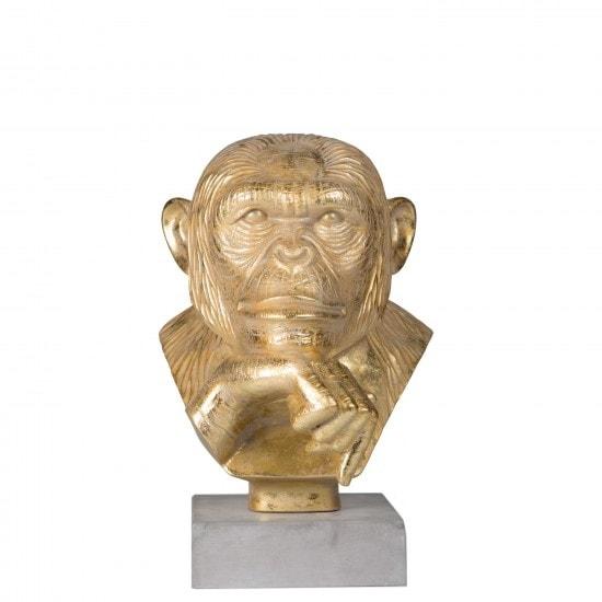 Staty Apa Styling Homestyling Beleco Guld