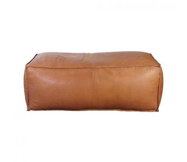 soft brick pouf, leather, läder, puff, house doctor, beleco, beleco market, hyr möbler, streama inredning, rent furniture, homestaging, styling