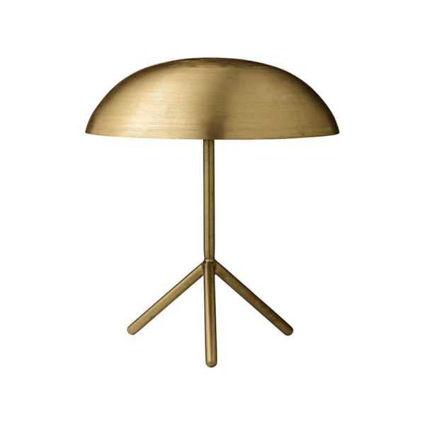 Tripod Table Lamp, brushed gold, Bloomingville, beleco market, streama inredning, hyr möbler, homestaging
