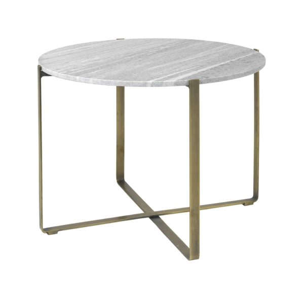 3573KD-1 Marble Table Round Beige Brass Victor Table