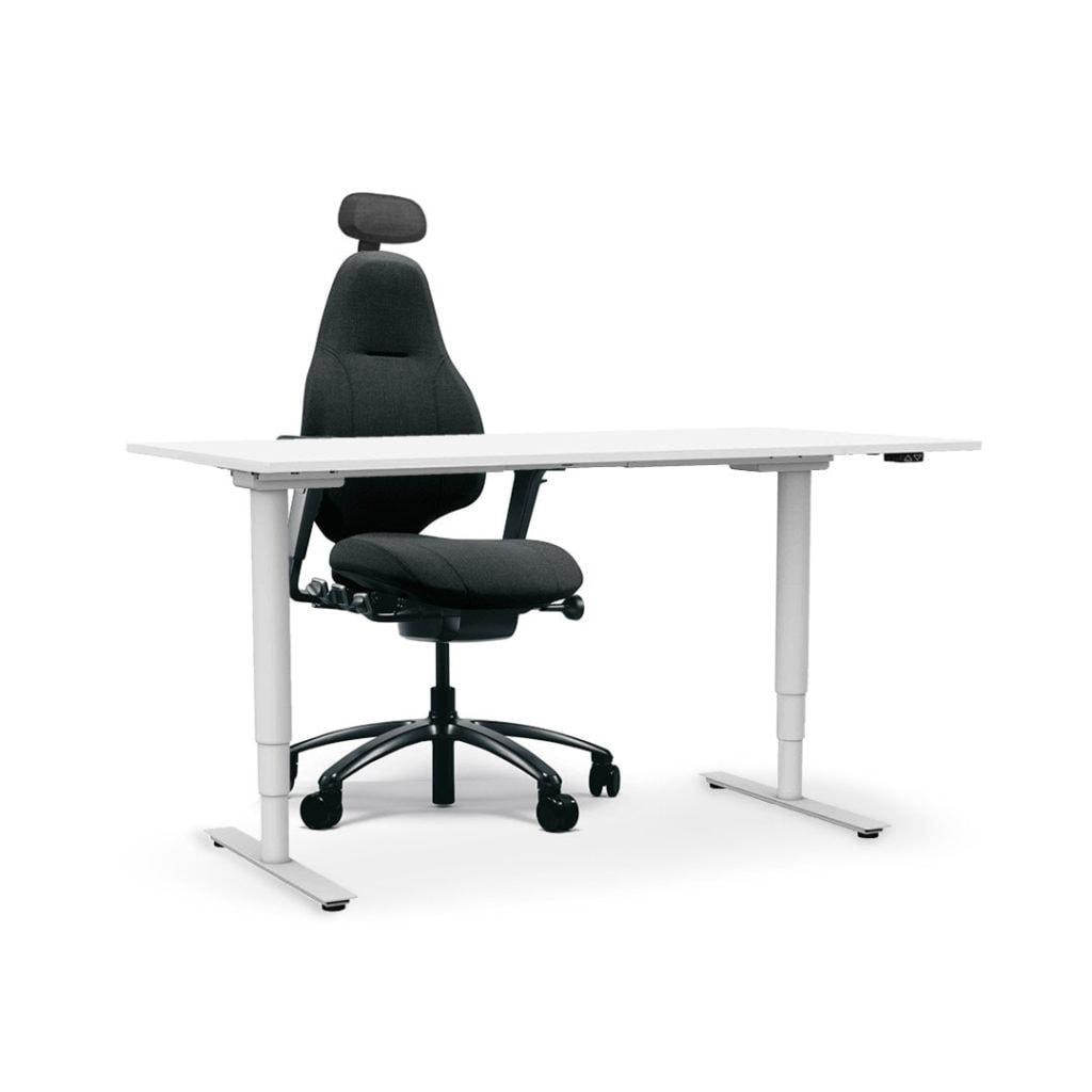 kontor skrivbord upp och ner